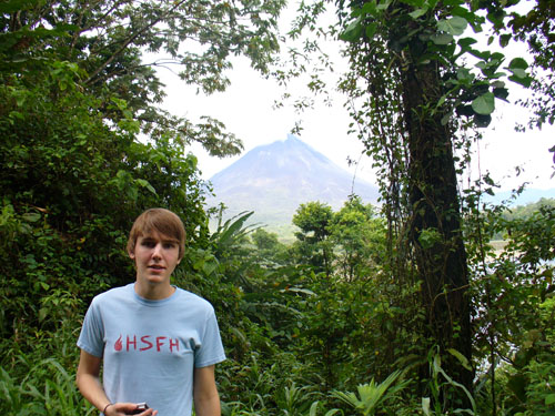 Jake with Arenal volcano